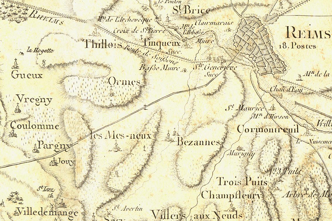 Arlaux 1820 map